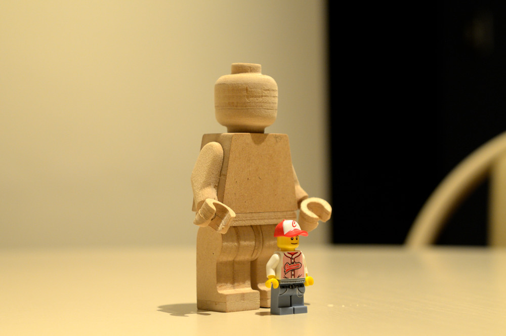 Minifigure made of wood