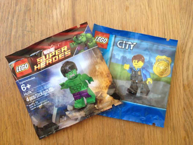 Hulk and Chase Mc Cain LEGO Minifigures
